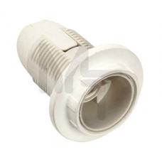 Ппл14-02-К12 Патрон пластик с кольцом, Е14, белый (50 шт), стикер на изделии, IEK EPP21-02-01-K01