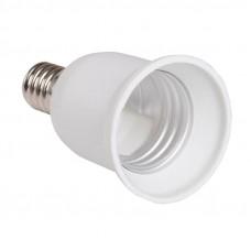 ПР14-27-К02 Переходник пластик, Е14-Е27, белый, индивидуальный пакет, IEK EPR21-01-01-K01