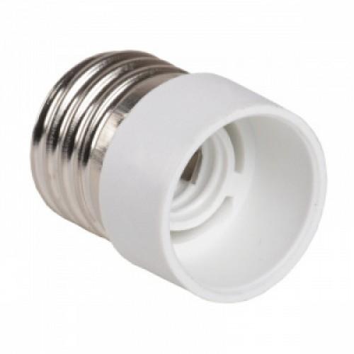 ПР27-14-К02 Переходник пластик, Е27-Е14, белый, индивидуальный пакет, IEK EPR12-01-01-K01