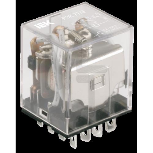 Реле РЭК78/4(MY4) с индикацией 3А  12В DC ИЭК RRP20-4-03-012D-LED