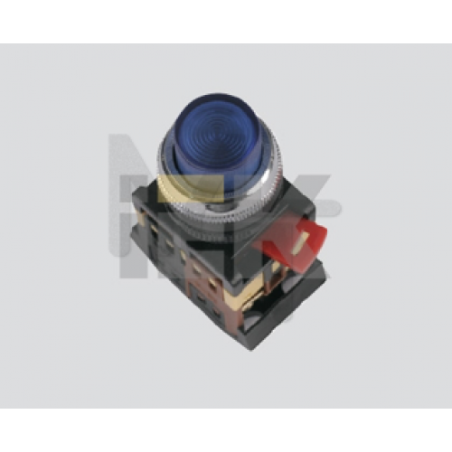 Кнопка ABLFP-22 зеленый d22мм неон/240В 1з+1р ИЭК BBT20-ABLFP-K06