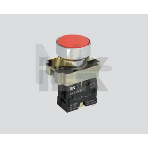 Кнопка управления LAY5-BA61 без подсветки синяя 1з ИЭК BBT60-BA-K07
