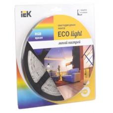 Лента LED 5м  блистер LSR-3528RGB54-4.8-IP20-12V IEK-eco LSR1-3-054-20-1-05