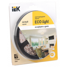 Лента LED 5м  блистер LSR-3528WW60-4.8-IP20-12V IEK-eco LSR1-1-060-20-1-05