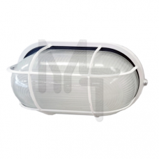 Светильник НПП1202 белый/овал с реш. 100Вт IP54  ИЭК LNPP0-1202-1-100-K01