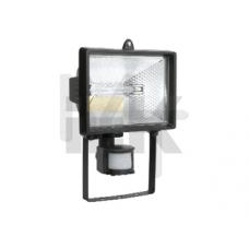 Прожектор ИО150Д(детектор) галоген.черный IP54  ИЭК LPI02-1-0150-K02
