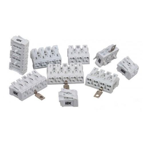 Клемма пружинная соединительная КСП4-2L+N+PE IEK UKZ-B06-4P-F0-E0-10