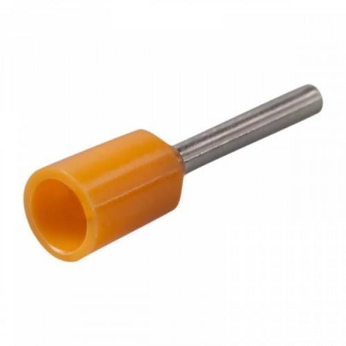 Наконечник-гильза Е0508 0,5мм2 с изолированным фланцем (оранжевый) (100 шт) ИЭК UGN10-D05-02-08