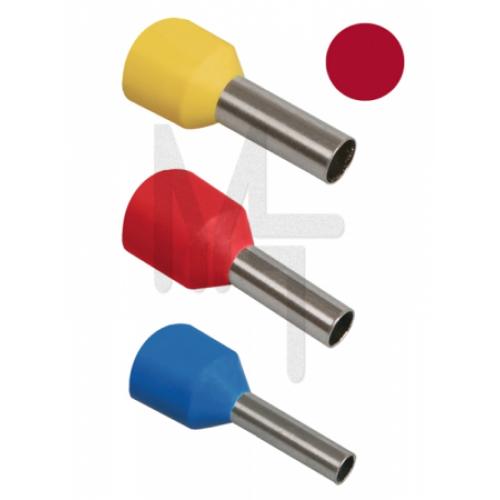 Наконечник-гильза Е1012 1мм2 с изолированным фланцем (темно-красный) (100 шт) ИЭК UGN10-001-03-12