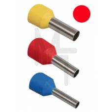 Наконечник-гильза Е1508 1,5мм2 с изолированным фланцем (красный) (100 шт) ИЭК UGN10-D15-03-08