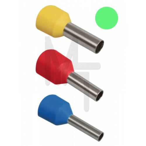 Наконечник-гильза Е6018 6мм2 с изолированным фланцем (светло-зеленый) (100 шт) ИЭК UGN10-006-06-18