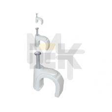 Скоба 6мм круглая пластиковая (100шт) ИЭК USK11-06-100