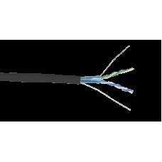 ITK Кабель связи витая пара F/UTP, кат.5E 2х2х24AWG solid, LDPE, 500м, черный LC3-C5E02-339