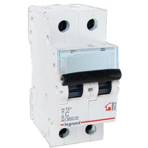 Legrand TX3 Автоматический выключатель 2P 25A (С) 6000 404044