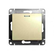Glossa Беж Выключатель 1-клавишный с подсветкой, сх.1а Schnaider GSL000213