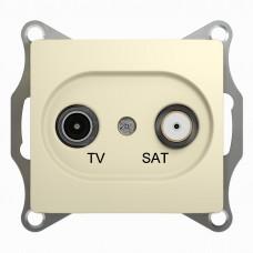 Glossa Беж TV-SAT Розетка одиночная 1DB Schnaider GSL000297