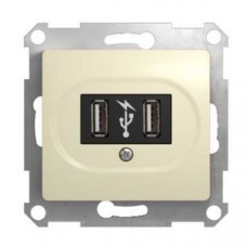Glossa Беж USB Розетка  Schnaider GSL000232