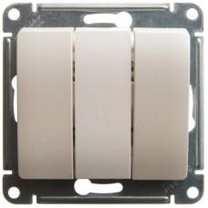 Glossa Бел Выключатель 3-клавишный, сх.3 Schnaider GSL000131