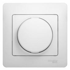 Glossa Бел Светорегулятор (диммер) поворотный, 300Вт (в сборе с рамкой)  Schnaider GSL000134
