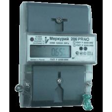 Счетчик Меркурий 206 PRNO (1ф, ЖКИ, многотариф, на DIN) Ц030929