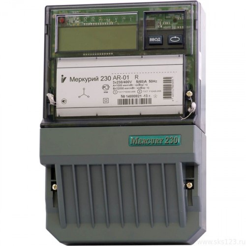 Счетчик Меркурий 230 AR-01 R (3ф, ЖКИ, в щиток) Ц030932