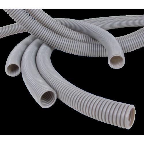 Труба гофрированная ПВХ легкая 350 Н серая с/з д32 (25м/1375м уп/пал) Промрукав PR.013231