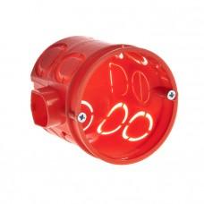 Коробка установочная углубленная 80-0510 С безгалогенная (HF) 68х62 с саморезами (140шт/кор) Промрукав 80-0510 С