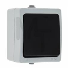 Венеция Выключатель 1 -клавишный 10А IP54 серый EKF EVV10-021-30-54