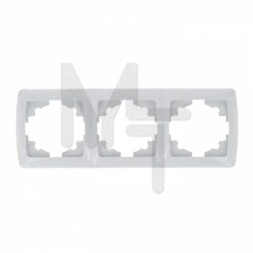 Мадрид Рамка 3-местная горизонтальная белая EKF EIM-G-303-10