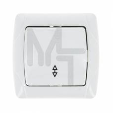 Мадрид Выключатель проходной 1-клавишный 10А белый EKF EIV10-025-10