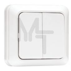 Рим Выключатель 2-клавишный 10А белый EKF ENV10-023-10
