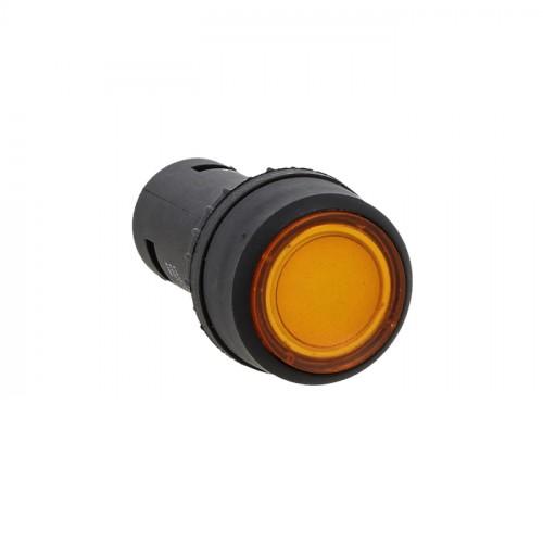 Кнопка SW2C-10D с подсветкой желтая NO EKF PROxima sw2c-md-y