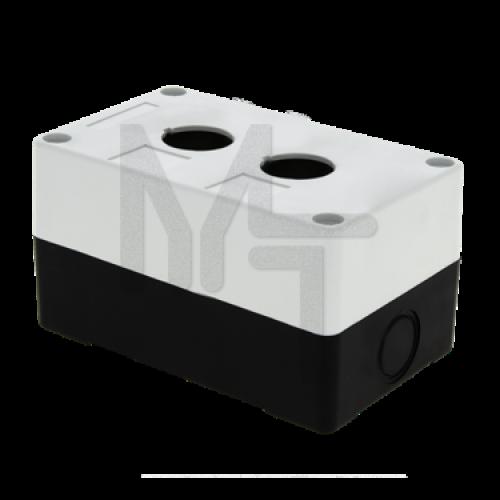 Корпус КП102 пластиковый 2 кнопки белый EKF PROxima cpb-102-w