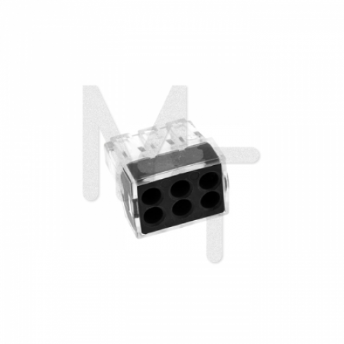 Строительно-монтажная клемма СМК 773-106 6 отверстий 1,0-2,5мм2 (4шт.) EKF PROxima plc-smk-106r