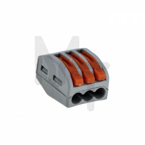 Строительно-монтажная клемма СМК 222-413 с рычагом 3 отверстия 0,08-2,5мм2 (2шт.) EKF PROxima plc-smk-413r