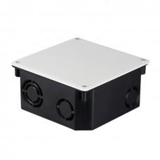Коробка распаячная КМТ-010-006 с крышкой для твердых стен (107х107х50) с саморезами IP20 EKF PROxima plc-kmt-010-006