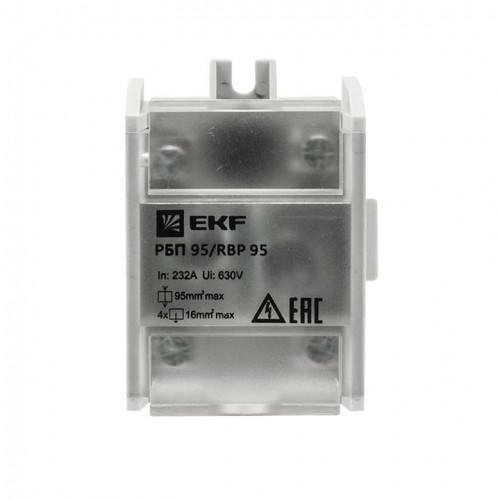 Распределительный блок проходной РБП 95 (1х95-4х16 мм2) 232/100А EKF PROxima RBP-95-100