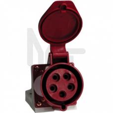 Розетка стационарная наружная 125 3Р+РЕ+N 32А 380В IP44 EKF PROxima PS-125-32-380