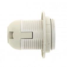 Патрон Е27 пластиковый с кольцом термостойкий пластик бел. EKF PROxima LHP-E27-r