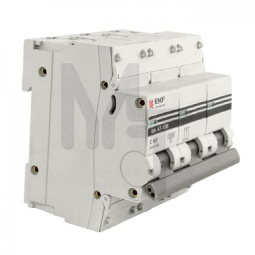 Автоматический выключатель 3P 16А (C) 10kA ВА 47-100 EKF PROxima mcb47100-3-16C-pro
