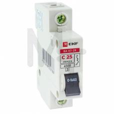 Автоматический выключатель 1P 32А (C) 4,5кА ВА 47-29 EKF Basic mcb4729-1-32C