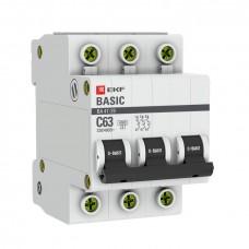 Автоматический выключатель 3P 32А (C) 4,5кА ВА 47-29 EKF Basic mcb4729-3-32C