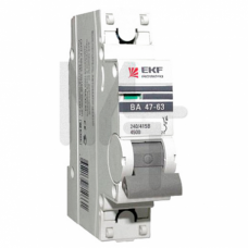 Автоматический выключатель 1P 2А (C) 4,5kA ВА 47-63 EKF PROxima mcb4763-1-02C-pro