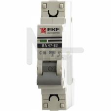 Автоматический выключатель 1P 4А (C) 4,5kA ВА 47-63 EKF PROxima mcb4763-1-04C-pro