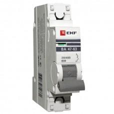 Автоматический выключатель 1P 16А (C) 6кА ВА 47-63 EKF PROxima mcb4763-6-1-16C-pro