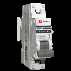 Автоматический выключатель 1P 20А (C) 4,5kA ВА 47-63 EKF PROxima mcb4763-1-20C-pro