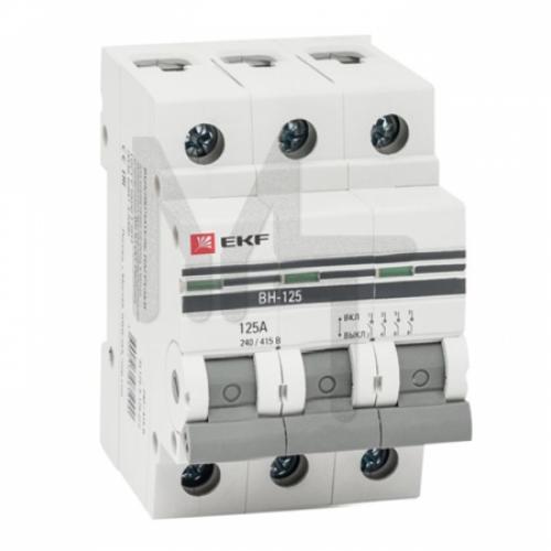 Выключатель нагрузки 3P 100А ВН-125 EKF PROxima SL125-3-100-pro
