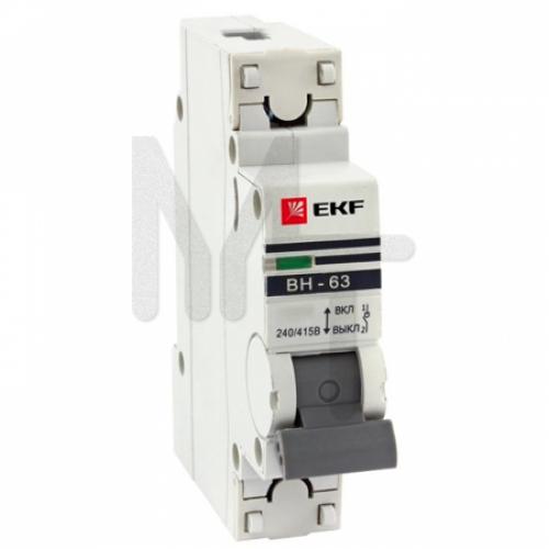 Выключатель нагрузки 1P 40А ВН-63 EKF PROxima SL63-1-40-pro