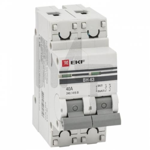 Выключатель нагрузки 2P 25А ВН-63 EKF PROxima SL63-2-25-pro