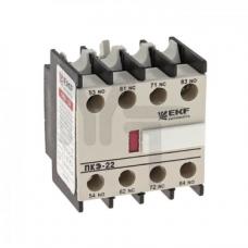 Приставка контактная ПКЭ-22 2NO+2NC EKF PROxima ctr-sc-25